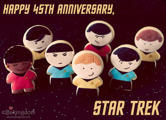 Star Trek Anniversary Cookies Food: Where No Cookie Has Gone Before