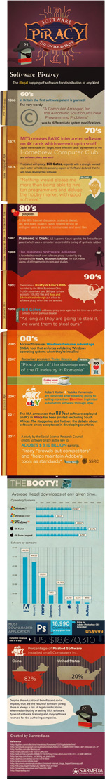 The untold story of software piracy infographic