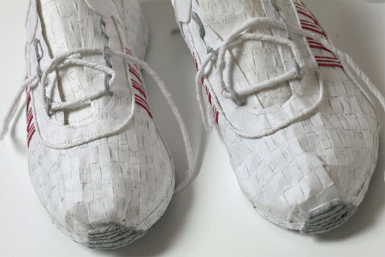 Paper Sneakers by Julie VonDerVellen