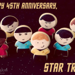 Star Trek Anniversary Cookies 150x150 Infographic: 45 Years of Star Trek